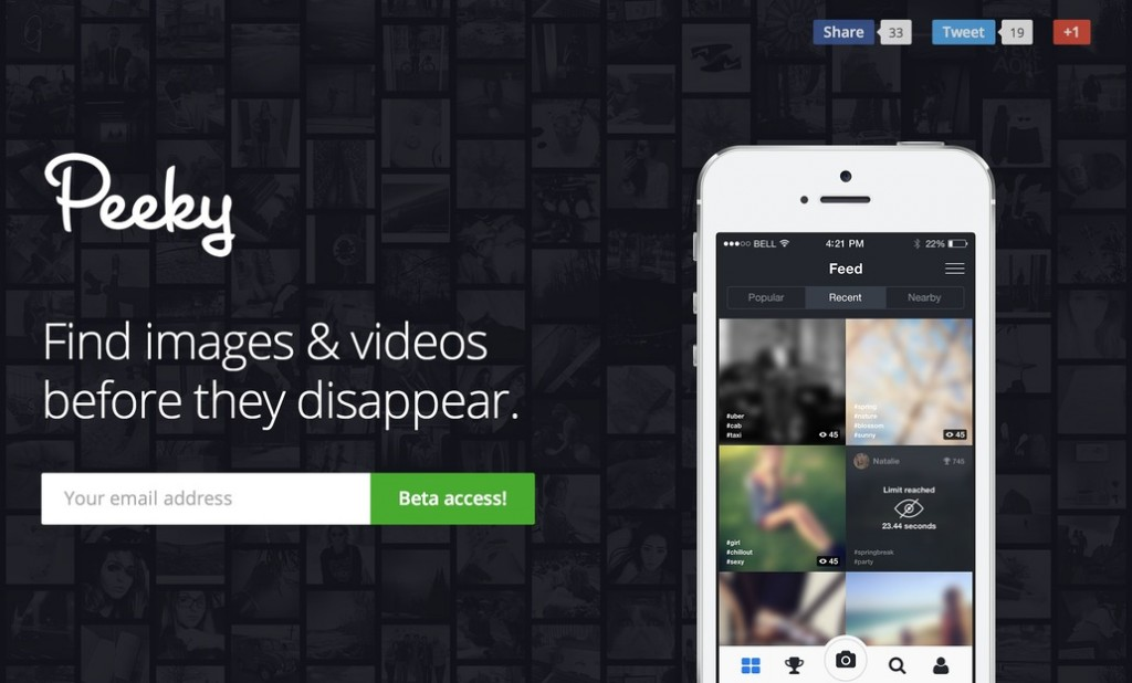 Get Peeky for Carefree Sharing of Photos & Videos!