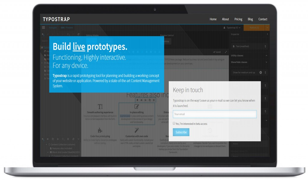 Typostrap Website Prototyping