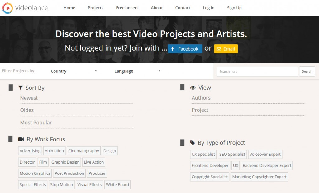 Videolance Search Filters